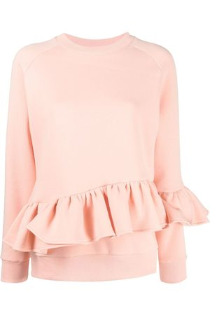 Atu Body Couture X Ioana Ciolacu long-sleeve ruffled sweatshirt - Neutrals