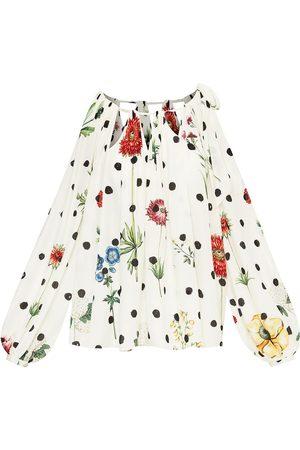 Oscar de la Renta Women Blouses - Floral-print silk blouse