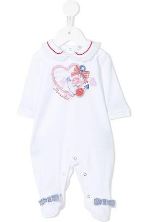 MONNALISA Pajamas - Anchor heart logo print pyjamas