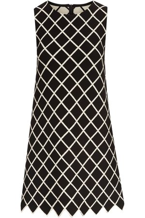 Oscar de la Renta Windowpane-check mini-dress