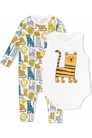 Stella McCartney Wild Cats print babygrow set