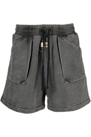 VAL KRISTOPHER Washed track shorts - Grey