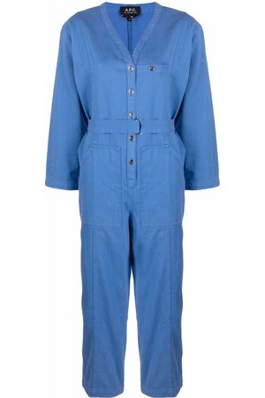 A.P.C. Women Jumpsuits - Gaelle denim jumpsuit