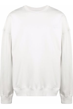 A-cold-wall* Embroidered-logo oversize jumper - Neutrals