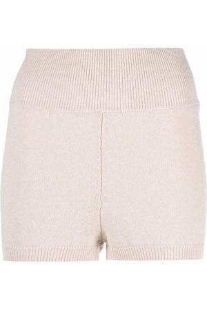 AMI AMALIA Knitted biker shorts - Neutrals