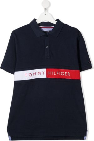 Tommy Hilfiger Polo Shirts - TEEN Flag logo polo shirt