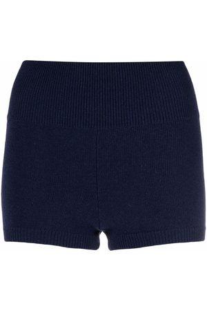 AMI AMALIA Merino-knit high-waisted shorts