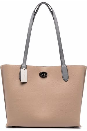 Coach Textured leather tote bag - Neutrals