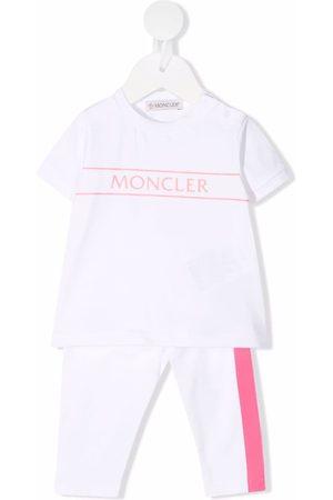 Moncler Logo-print short-sleeved tracksuit set