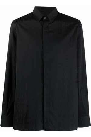 Balmain Men Long sleeves - Monogram-print long-sleeve shirt