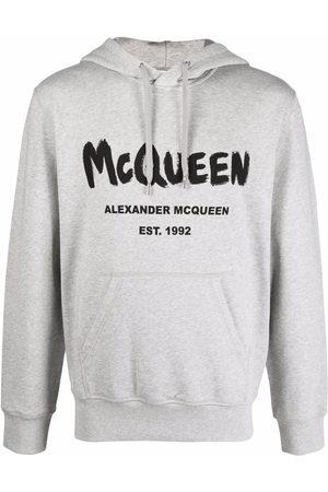 Alexander McQueen Logo-print hoodie - Grey