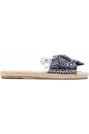 MANEBI Hamptons bandana-bow sandals