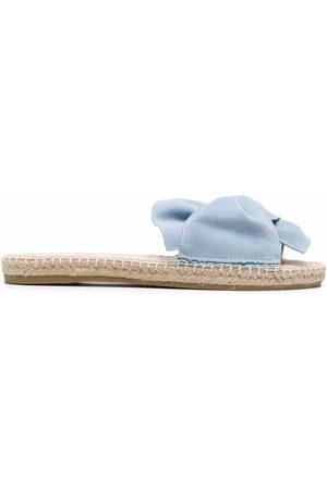 MANEBI Women Sandals - Hamptons knotted denim slides