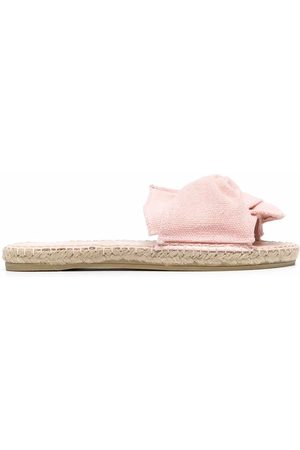 MANEBI Women Sandals - Hamptons knotted suede slides
