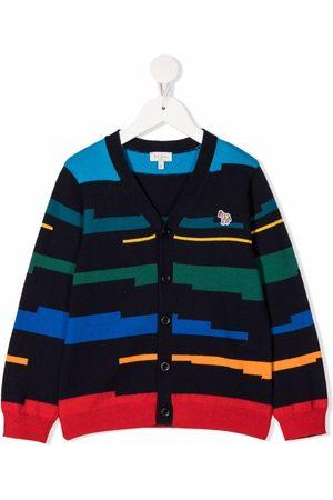 Paul Smith Boys Cardigans - Zebra patch striped cardigan