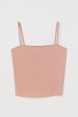 H&M Women Camisoles - Cropped Jersey Camisole Top