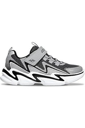 Skechers Boys' Little Kids' Wavetronic Hook-and-Loop Casual Shoes in Grey/Grey Size 1.0