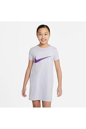 Nike Girls Skirts & Dresses - Girls' Sportswear Futura T-Shirt Dress in / Chalk Size Small 100% Cotton
