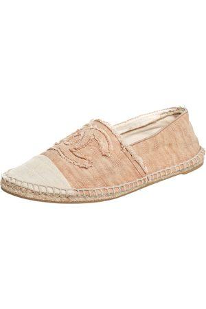 CHANEL Women Espadrilles - CC Canvas Cap-Toe Flat Espadrille Size 39