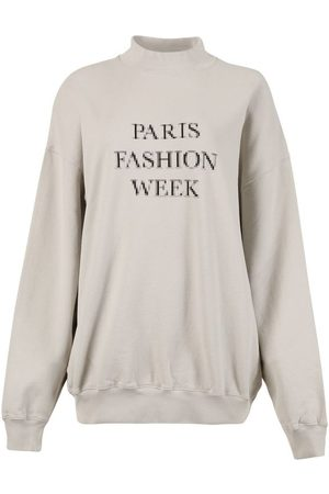 Balenciaga Women Sweatshirts - Paris Fashion Week Sweatshirt, Cement Grey
