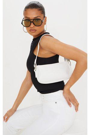 PRETTYLITTLETHING Women Purses - PU Croc Shoulder Bag