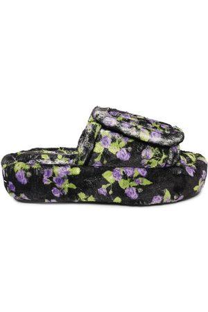 Natasha Zinko Women Sandals - Floral Print Tall Slippers