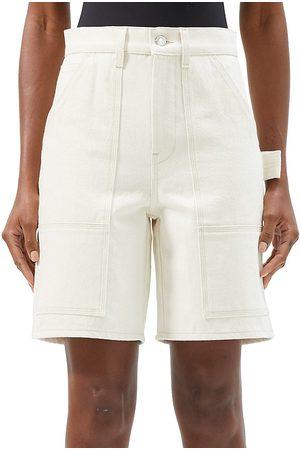 Helmut Lang Women's Utility Shorts - Ecru - Size 25