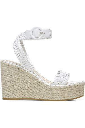 VERONICA BEARD Women's Rilla Leather Espadrille Platform Wedge Sandals - - Size 9