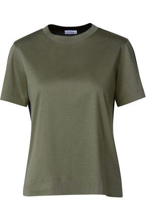 AKRIS Women's Roundneck Cotton T-Shirt - Moss - Size 16