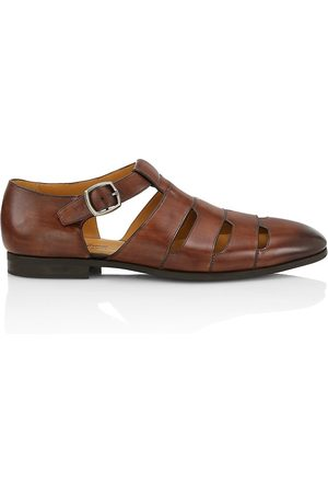 Saks Fifth Avenue Women's COLLECTION Leather Fisherman Sandals - - Size 12