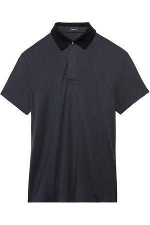 THEORY Men Polo Shirts - Men's Kayser Polo Shirt - Baltic - Size Small
