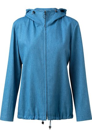 AKRIS Women's Hooded Denim Jacket - Denim - Size 10