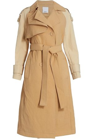 Acler Women's Newton Two-Tone Trench Coat - Almond Mix - Size 6
