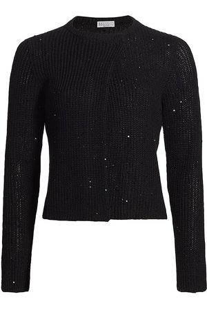 Brunello Cucinelli Women Long sleeves - Women's Sequin Detail Long Sleeve Top - - Size XS