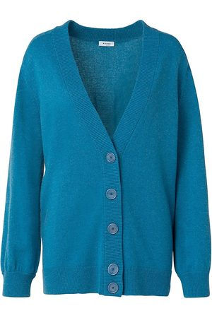 AKRIS Women's Cashmere Button-Up Cardigan - Denim - Size 16