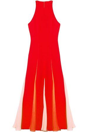 Carolina Herrera Women's Sleeveless Colorblock Godet Dress - Lacquer Multi - Size 6