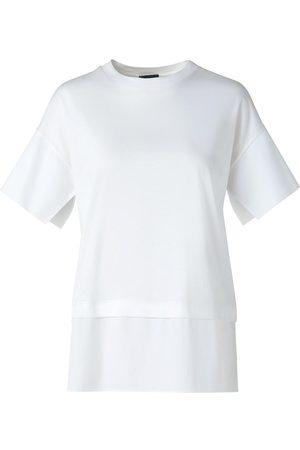 AKRIS Women T-shirts - Women's Poplin Jersey T-Shirt - Ecru - Size 2