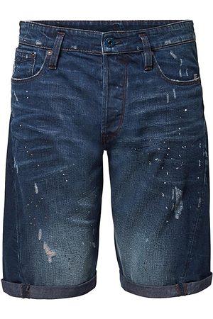 G-Star Men Shorts - Men's Scutar 3D Paint-Splatter Distressed Denim Shorts - Taint Destroyed - Size 38