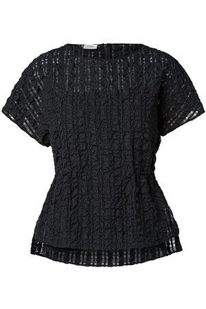 AKRIS Women's Seersucker Organza Check Blouse - - Size 4