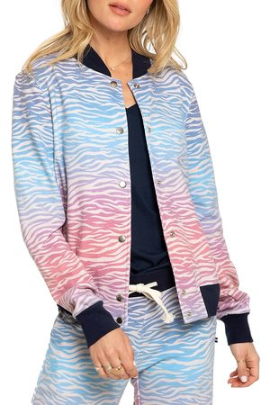 SOL ANGELES Women Bomber Jackets - Women's Sol Tiger Bomber Jacket - Tiger Ombre - Size Small