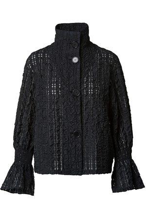 AKRIS Women Jackets - Women's Seersucker Organza Check Jacket - - Size 16