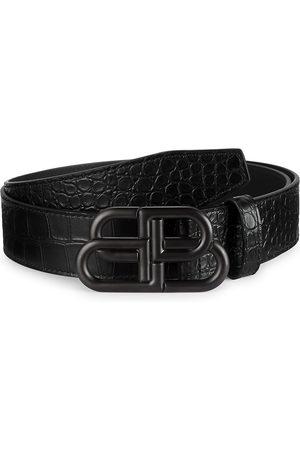 Balenciaga Men's Large BB Leather Belt - - Size 44