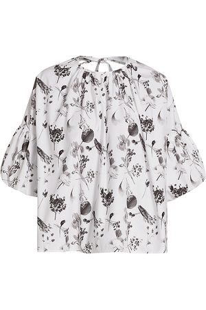 Deveaux New York Women Tops - Women's Hazel Billow Sleeve Top - Floral - Size XS