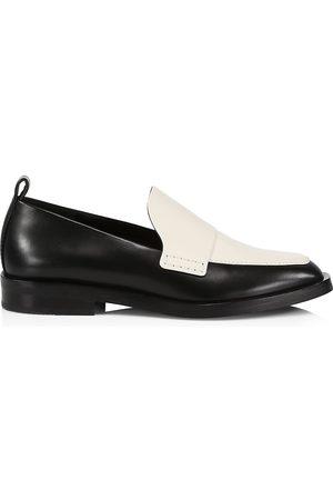 3.1 Phillip Lim Women's Alexa Two-Tone Leather Loafers - Bone - Size 10.5