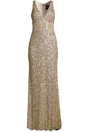 Mac Duggal Women's Sleeveless Sequin Gown - Nude - Size 12