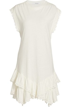 Derek Lam Women's Jay Ruffle Hem T-Shirt Dress - Soft - Size Small