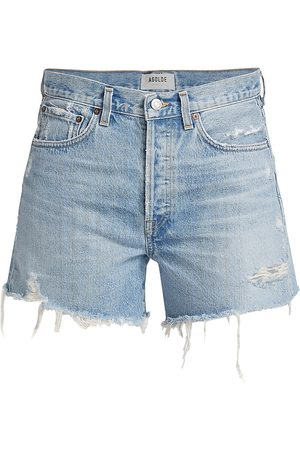 AGOLDE Women Shorts - Women's Parker Longline Denim Shorts - Swap Meet - Size 30