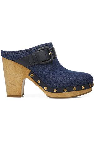 VERONICA BEARD Women's Dacey Denim Clogs - Eclipse - Size 9.5
