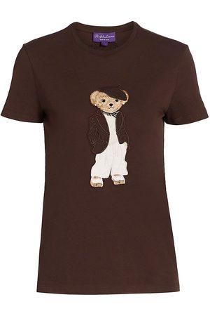 Ralph Lauren Women Polo Shirts - Women's Deauville Polo Bear T-Shirt - Bright - Size XL