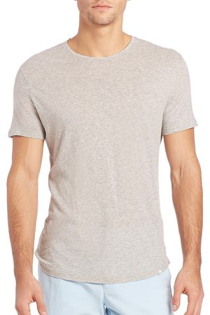 Orlebar Brown Men T-shirts - Men's Crewneck Tee - Grey - Size XXL